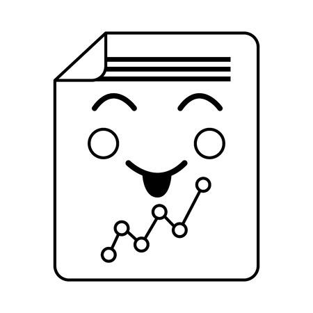 happy graph chart  icon image vector illustration design  イラスト・ベクター素材