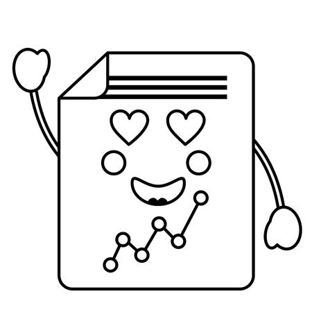 graph chart heart eyes  icon image vector illustration design