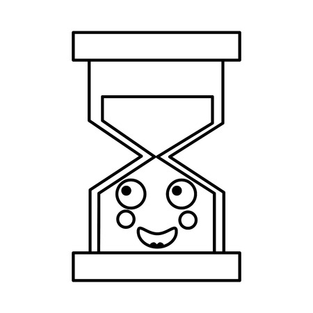A happy hourglass kawaii icon image vector iilustration design 向量圖像