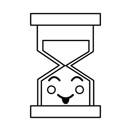 A happy hourglass kawaii icon image vector iilustration design Illusztráció