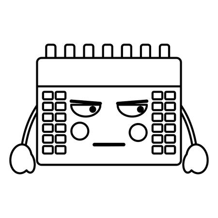 Angry calendar kawaii icon image