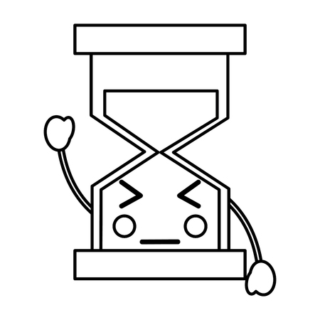 An angry hourglass icon vector iilustration design