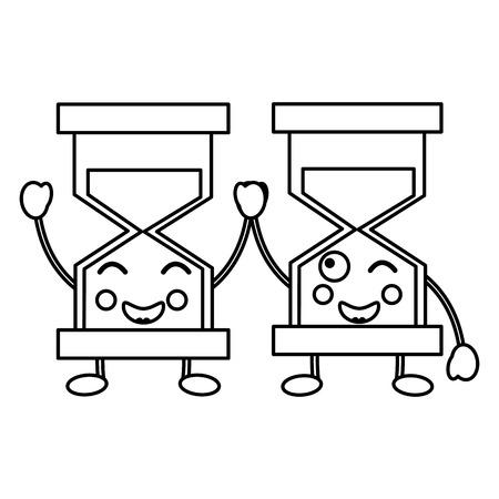 hourglasses kawaii icon image vector iilustration design