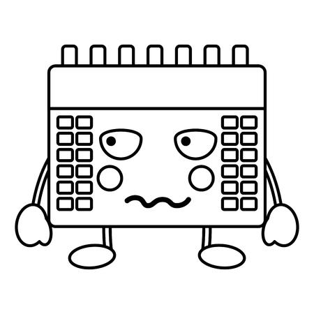 angry calendar kawaii icon image vector iilustration design Illustration