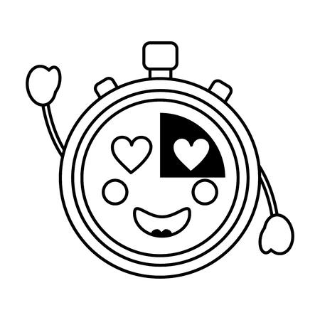 chronometer hart ogen pictogram afbeelding vector iilustration ontwerp Stock Illustratie