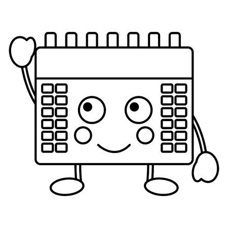 happy calendar  icon image vector iilustration design Illustration