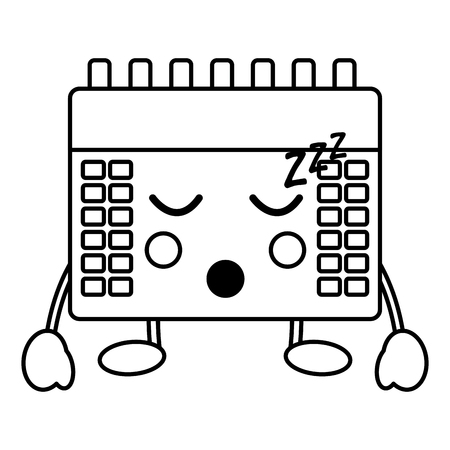 calendar sleeping  icon image vector iilustration design
