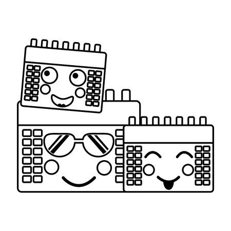 カレンダーアイコン画像ベクトルiilustrationデザイン  イラスト・ベクター素材