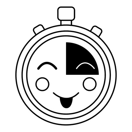 happy chronometer  icon image vector iilustration design Illustration