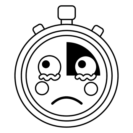 sad chronometer  icon image vector iilustration design Illustration