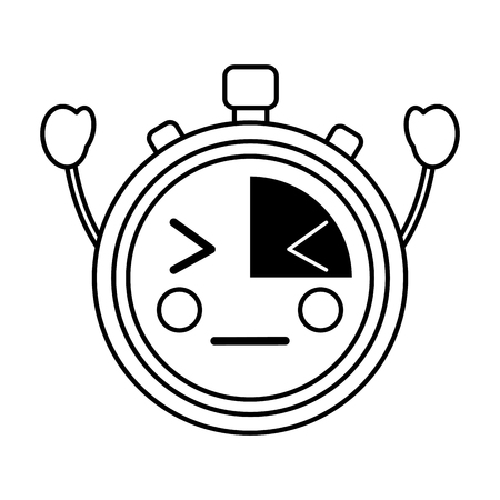 angry chronometer  icon image vector iilustration design Illustration