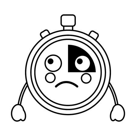 sad chronometer  icon image vector iilustration design Illustration