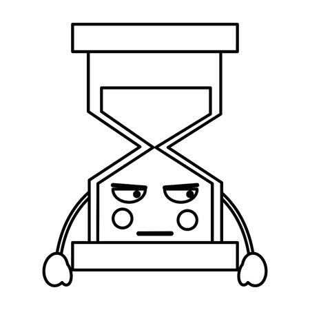 화가 모래 시계 가와이 아이콘 이미지 벡터 ilustration 디자인
