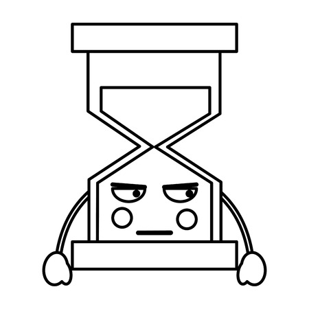 angry hourglass kawaii icon image vector iilustration design  版權商用圖片