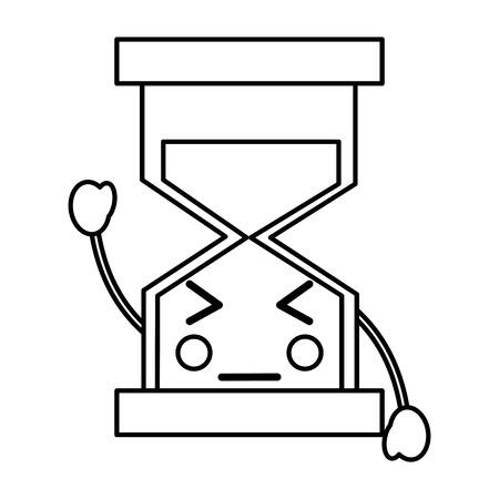 angry hourglass icon image vector iilustration design