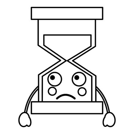 슬픈 모래 시계 아이콘 이미지 벡터 ilustration 디자인