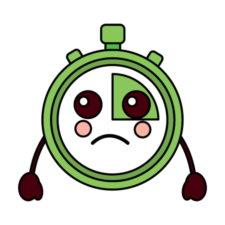 sad chronometer kawaii icon image vector illustration design Vettoriali