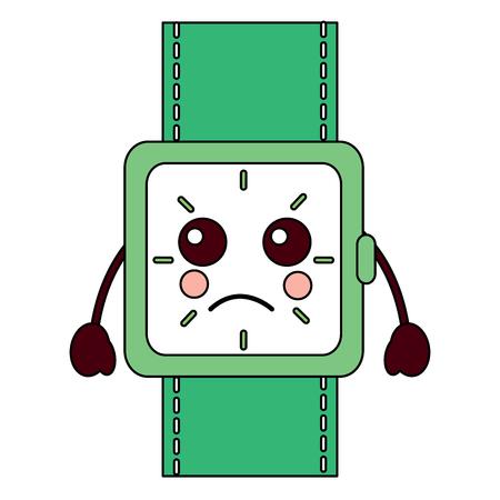 sad watch kawaii icon image vector illustration design