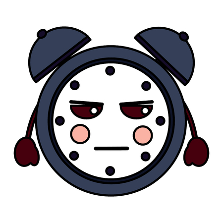 angry clock kawaii icon image vector illustration design Illustration