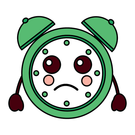 A sad alarm clock icon vector illustration design Vettoriali