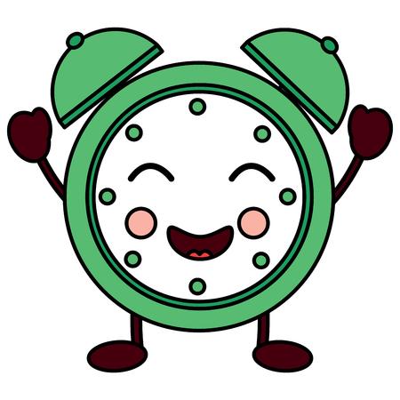 행복 시계 kawaii 아이콘 이미지 벡터 일러스트 레이 션 디자인 일러스트