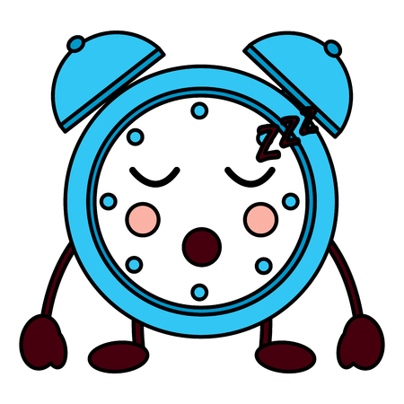 Alarm clock sleeping icon vector illustration design