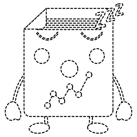 document sheet graph cartoon vector illustration sticker design