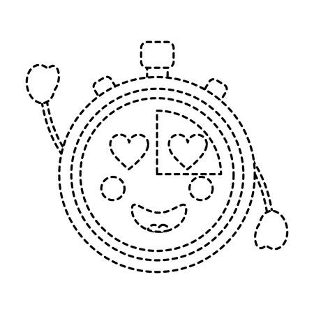 Chronometer speed timer cartoon character vector illustration sticker design Illustration
