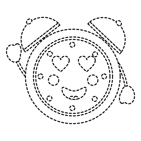clock heart eyes icon image vector illustration design Çizim