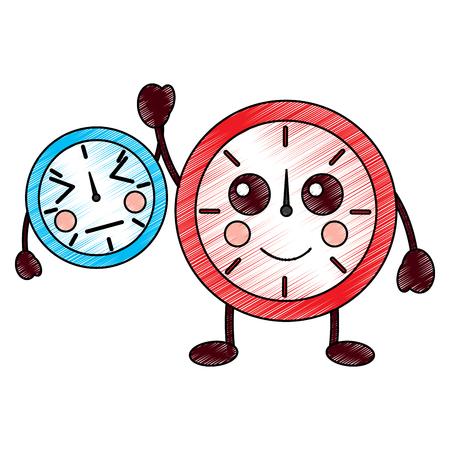 時計可愛いアイコン画像ベクトルイラストデザイン