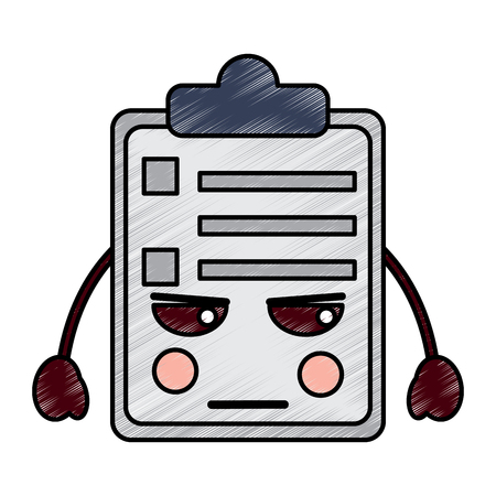 angry clipboard icon image vector illustration design