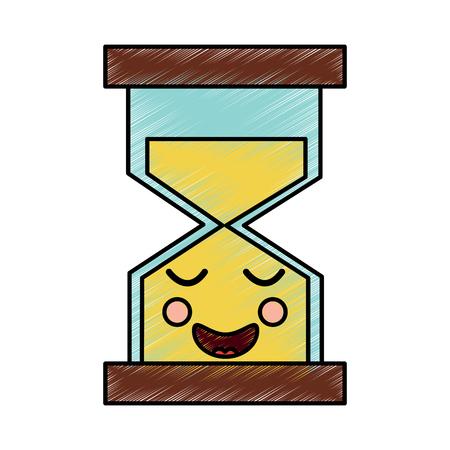 행복 모래 시계 아이콘 이미지 벡터 일러스트 레이 션 디자인