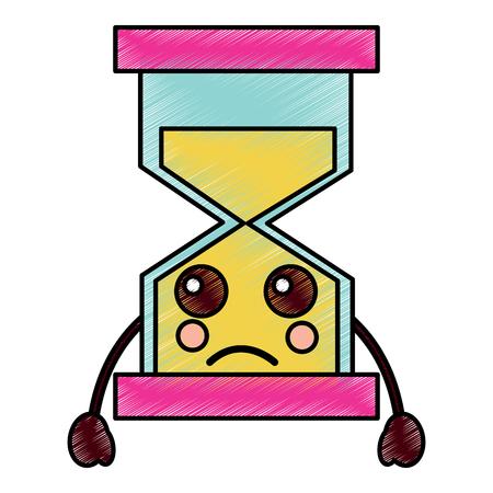 슬픈 모래 시계 아이콘 이미지 벡터 일러스트 레이 션 디자인