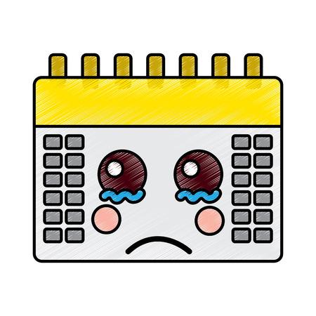triest kalender pictogram afbeelding vector illustratie ontwerp