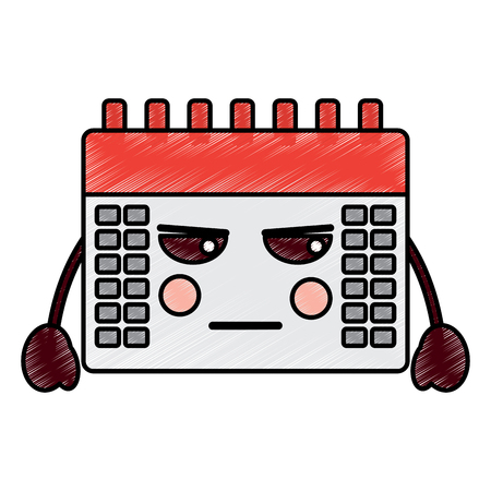 angry calendar  icon image vector illustration design