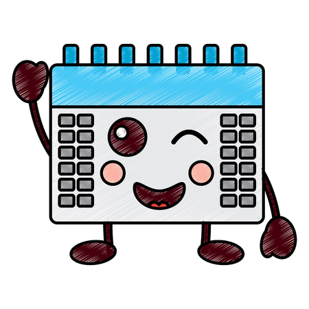 happy calendar icon image vector illustration design Illustration