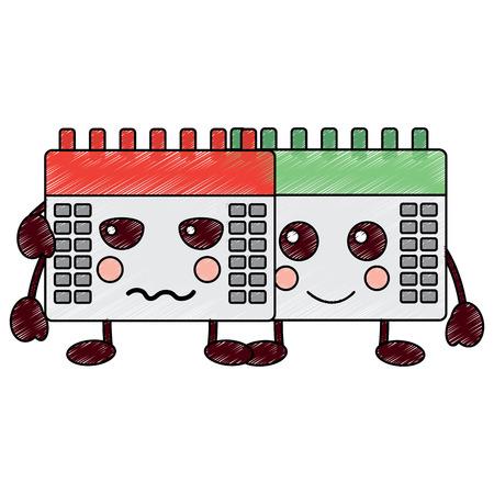 kalenders pictogram afbeelding vector illustratie ontwerp