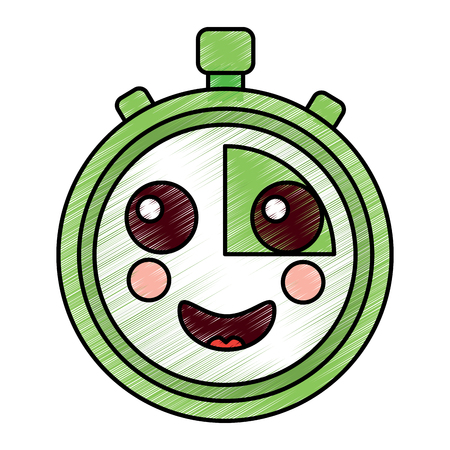 happy chronometer icon image vector illustration design