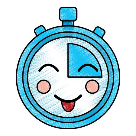 happy chronometer  icon image vector illustration design Ilustração