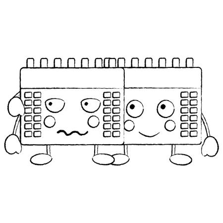 calendars  icon image vector illustration design black sketch line