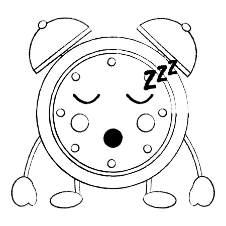 clock sleeping icon image vector illustration design black sketch line Illustration