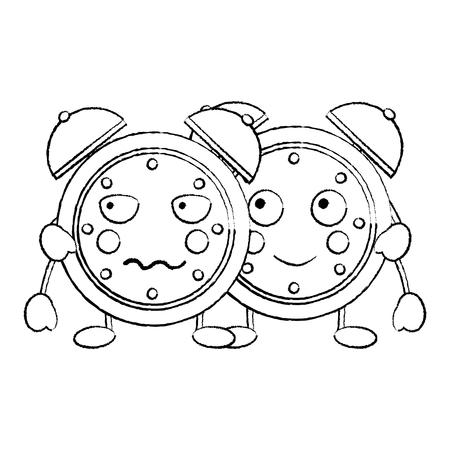 時計アイコン画像ベクトルイラストデザイン黒スケッチライン 写真素材 - 94041747
