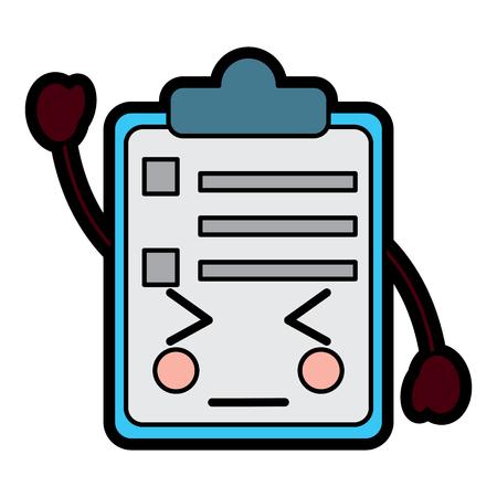 paper clipboard  character cartoon vector illustration