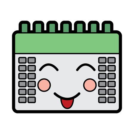 calendar event cute  cartoon vector illustration Ilustração