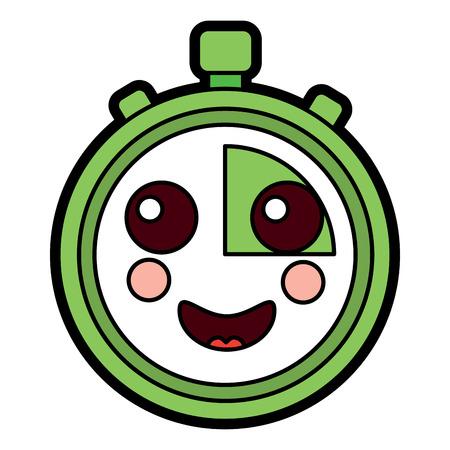 クロノメータースピードタイマー漫画キャラクターベクトルイラスト  イラスト・ベクター素材