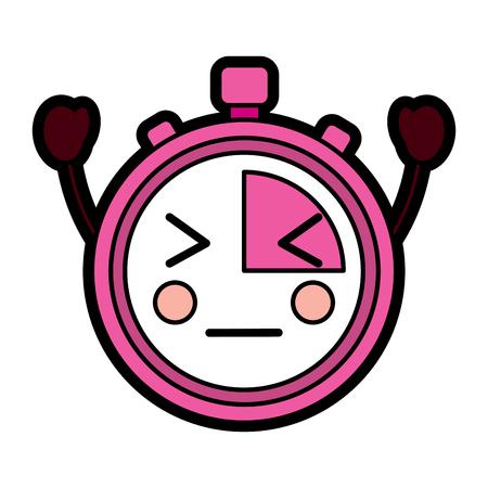 chronometer speed timer cartoon character vector illustration Reklamní fotografie - 94044335