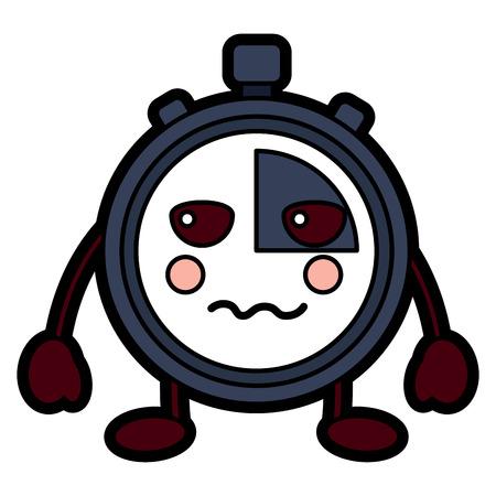 Chronomètre speed ? ? de vitesse personnage de dessin animé illustration vectorielle Banque d'images - 94044341