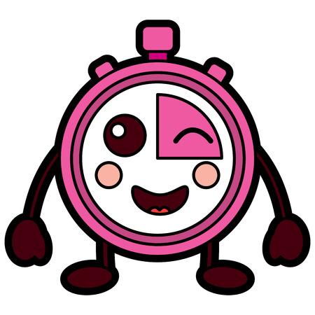Chronomètre speed ? ? de vitesse personnage de dessin animé illustration vectorielle Banque d'images - 94044339