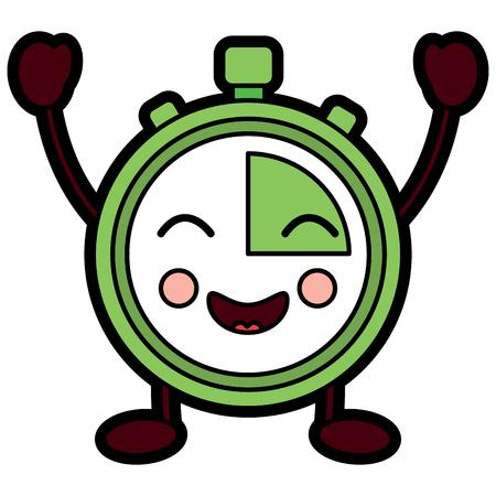 chronometer speed timer cartoon character vector illustration Reklamní fotografie - 94045813