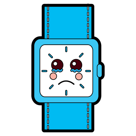 wrist watch bracelet square cartoon vector illustration